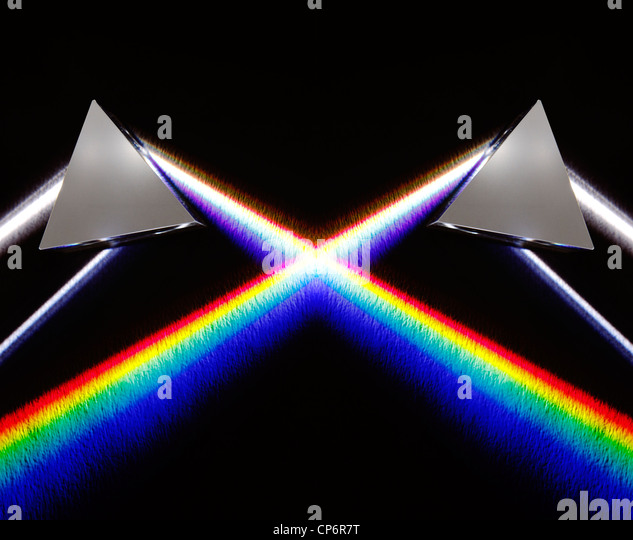 White light spectrum - Stock Image