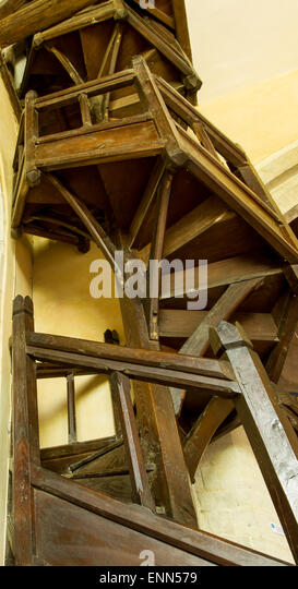 Staircase With Wooden Tower : Spiral stair tower stock photos