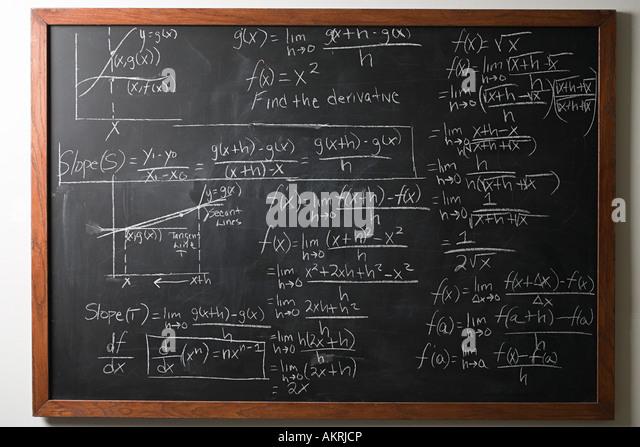 Calculus on blackboard - Stock Image