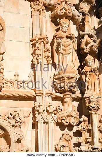 Portuguese stone carving stock photos