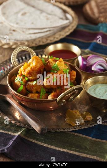 Gobi Manchurian Indian Chinese cauliflower dish India Food - Stock-Bilder