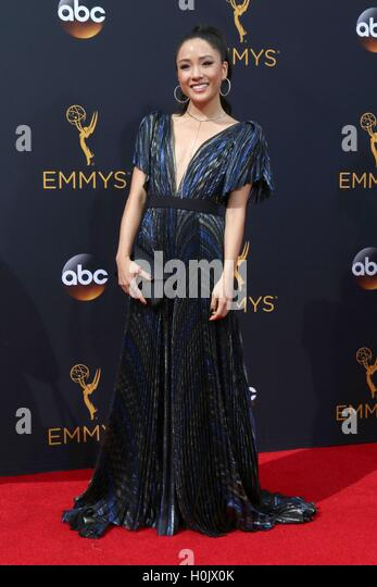 Los Angeles, CA, USA. 18th Sep, 2016. Constance Wu at arrivals for The 68th Annual Primetime Emmy Awards 2016 - - Stock-Bilder