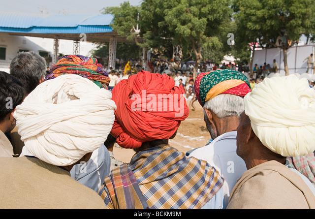 People at pushkar camel festival - Stock Image