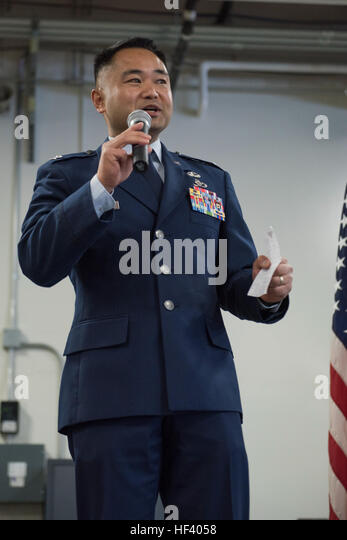 JOINT BASE ELMENDORF-RICHARDSON, Alaska -- Col. Marvin Ee took command of the 176th Wing's 176th Mission Support - Stock Image