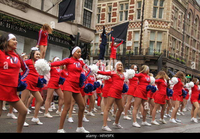 London, UK. 1st January 2017. Performers participating in London New Year's Day Parade in London on January - Stock Image