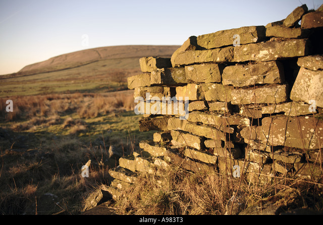 View of the remains of a farm house or industrial building at Paradise (continued) - Stock Image