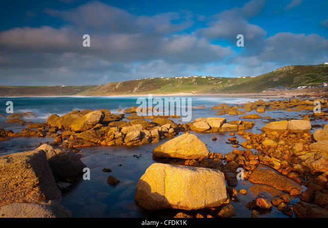 Sennen Cove, Whitesand Bay, Cornwall, England, United Kingdom, Europe - Stock Image