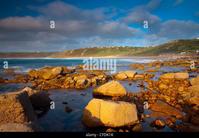 Sennen Cove, Whitesand Bay, Cornwall, England, United Kingdom, Europe - Stock Image