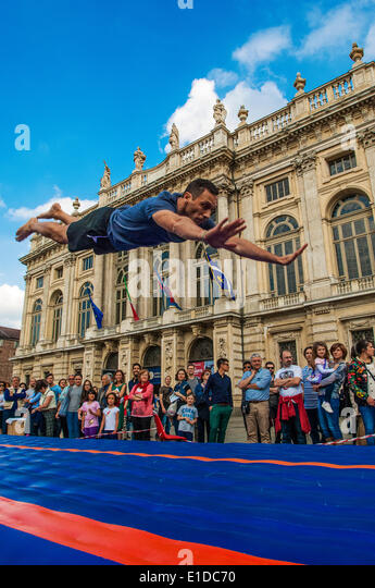 Turin, Italy. 31st May, 2014. The event 'The sport goes in the square in Turin'. Turin was chosen as the - Stock Image