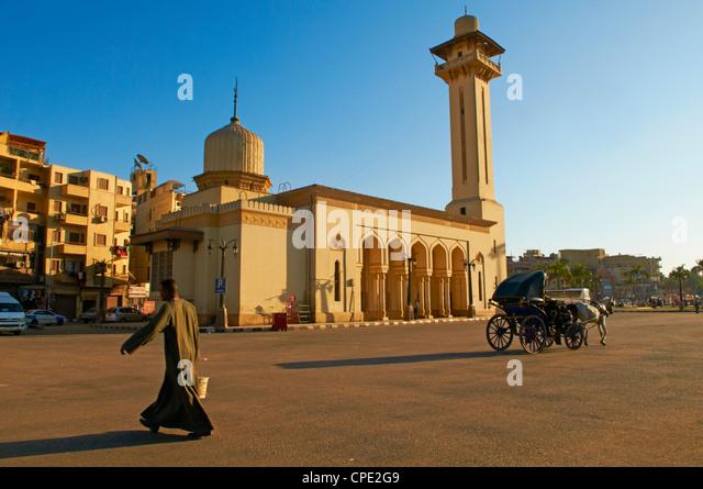 Mosque of Abu el-Haggag, Luxor, Egypt, North Africa, Africa - Stock Image
