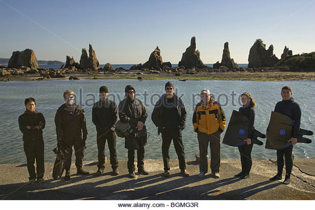 The Cove Year  2009 Director  Louie Psihoyos Documentary The crew of documentary, 'The Cove' Translator, - Stock Image