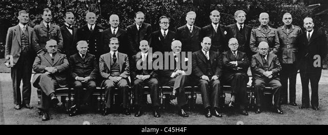 The British War Cabinet, 1941 - Stock Image