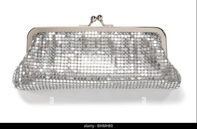 Sequin Evening Bag - Stock Image