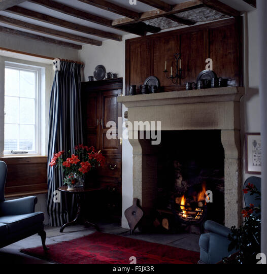 interiors living rooms traditional fireplaces stock photos interiors living rooms traditional. Black Bedroom Furniture Sets. Home Design Ideas