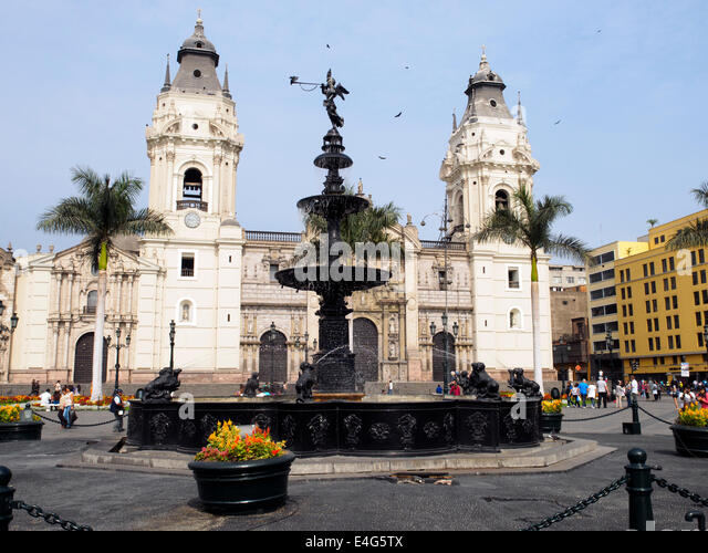 Cathedral of Lima - Peru - Stock Image