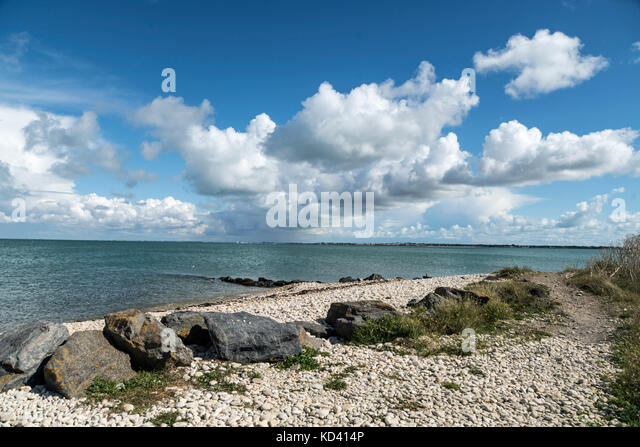 clouds, Ile de Re, Nouvelle-Aquitaine, french westcoast, france, - Stock Image
