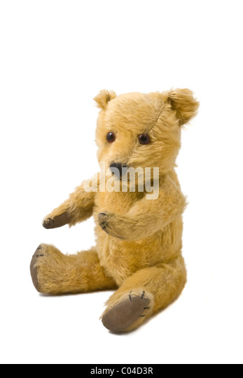 Teddy bear. Date of birth - 1948. - Stock Image
