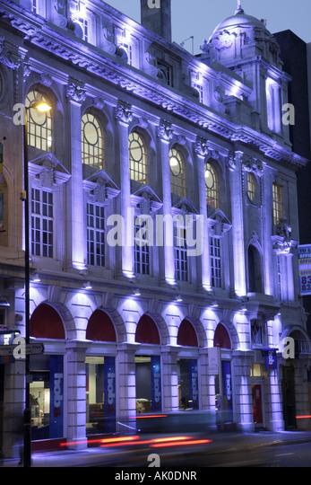 UK, England, Manchester, Deansgate, historic building, dusk, night, - Stock Image