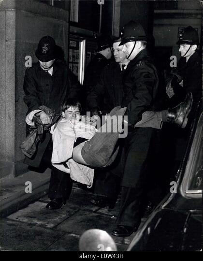 Apr. 04, 1961 - Police Fight Battles with Demonstrators.- A Few Hours After the Trafalgar Square rally at the end - Stock Image