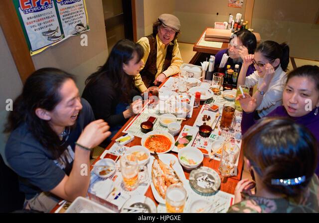 Sakura Suissan (restaurant). Nisinipori 5-38-1 Arakawa-ku. Tel 03-3819-6096.Tokyo city, Japan, Asia - Stock Image
