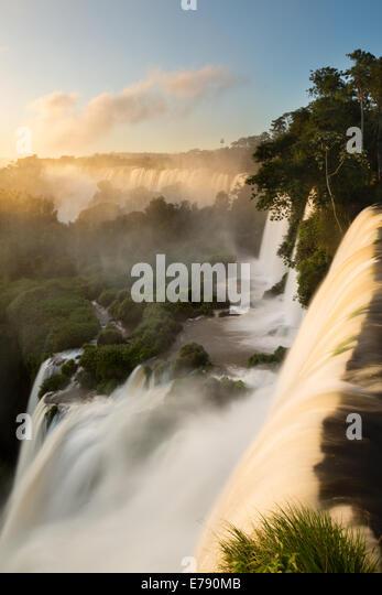 Iguazu Falls at dawn, Argentina - Stock Image