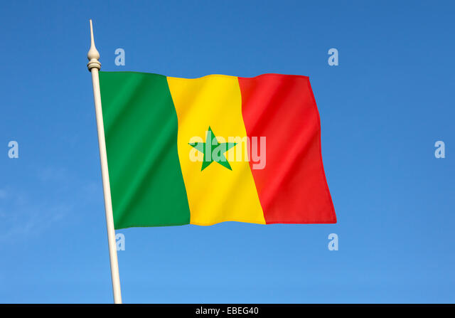 Flag of Senegal - Stock Image
