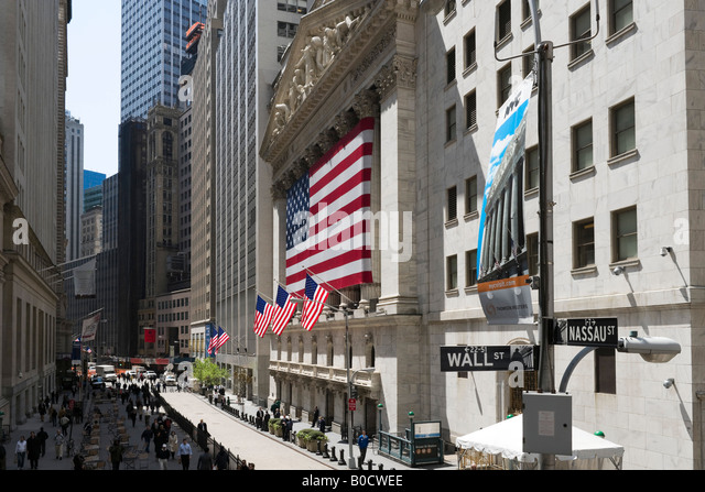 New York Stock Exchange (NYSE), Wall Street, Financial District, NYC, New York City - Stock Image