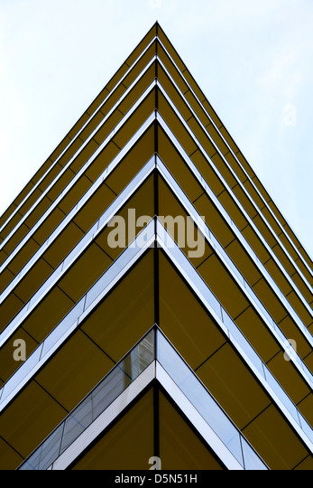 Corner of building in Angel Passage, City of London - Stock Image