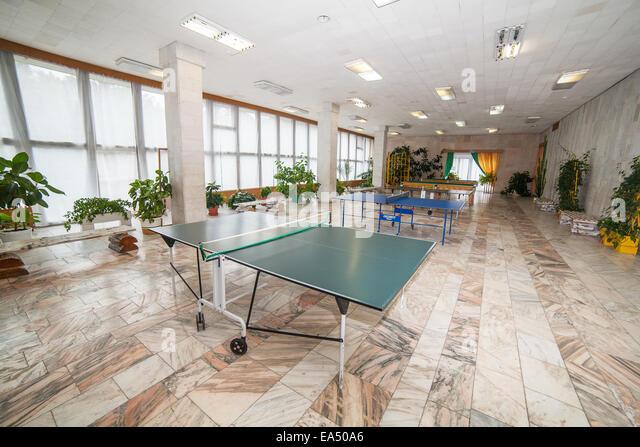 Table tennis playground - Stock Image