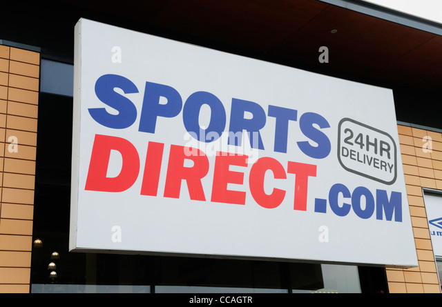 SportsDirect.com sign, Cambridge, England, UK - Stock Image