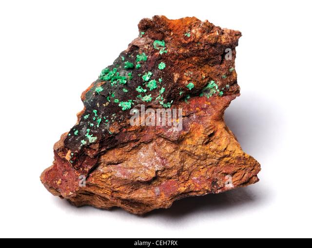 Malachite (from Katanga, Congo) - Stock-Bilder