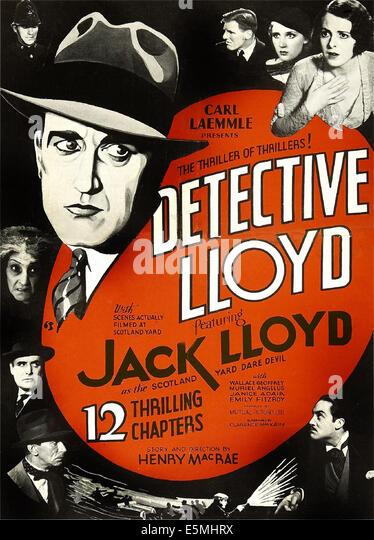 LLOYD OF THE C.I.D., (aka DETECTIVE LLOYD), US poster art, large head: Jack Lloyd; women top right: Muriel Angelus, - Stock Image