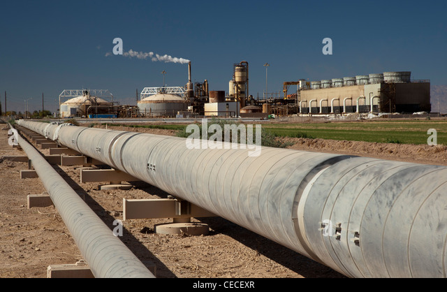 Geothermal Power Facility - Stock Image