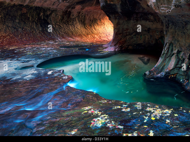 The Subway. Left Fork of North Creek. Zion National Park, Utah. - Stock Image