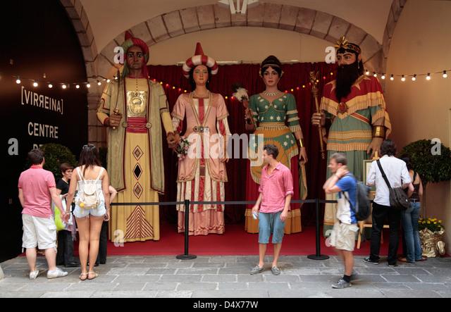 Fiesta MERCE,  GIGANTES (Riesen)-Parade, Barcelona, Spain - Stock Image