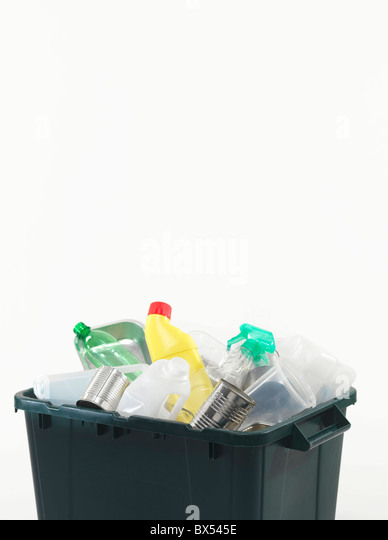 Household recycling box - Stock Image
