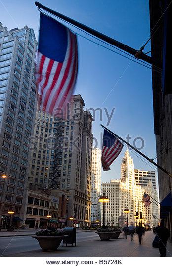 North Michigan Avenue, Chicago, Illinois, USA. - Stock-Bilder