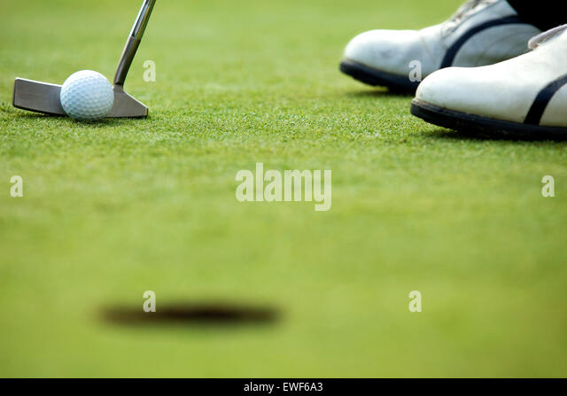 A golf club on a golf course - Stock Image