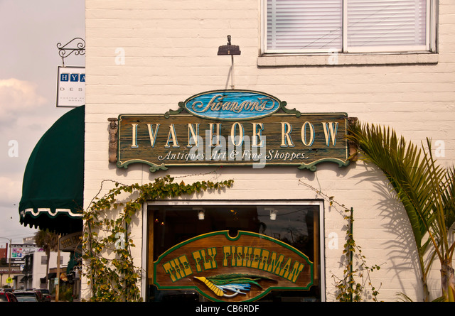 Orlando, Florida  antique district downtown at Ivanhoe Row - Stock Image