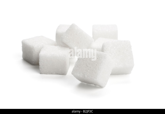Pile of sugar cubes - Stock Image