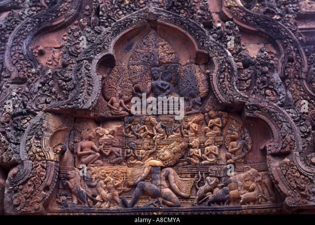 Banteay Srei, Angkor, Cambodia - Stock Image