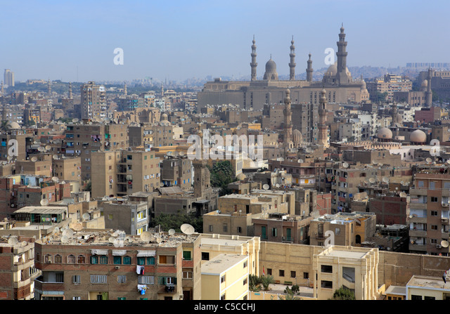 Sultan Hassan and al Rifai mosques, Cairo, Egypt - Stock Image