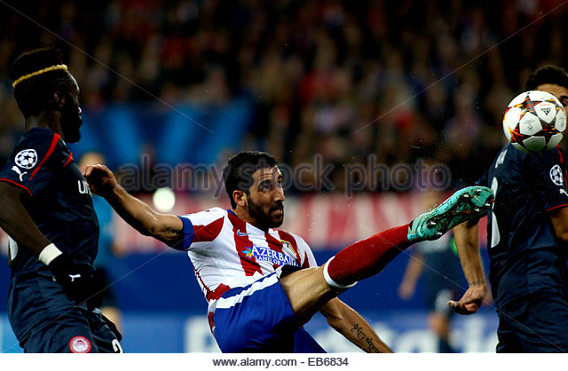 SPAIN, Madrid: Atletico de Madrid's Spanish midfielder Raul Garcia during the Champions League 2014/15 match - Stock Image
