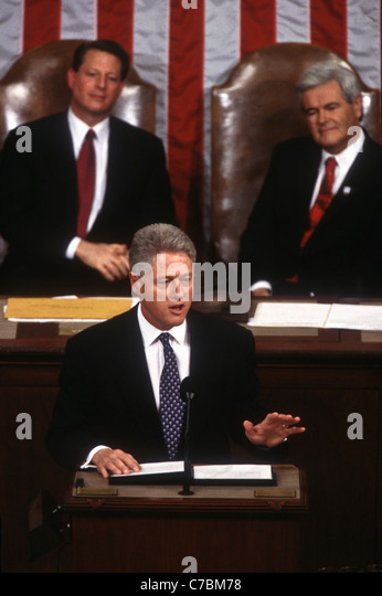 an analysis of president clintons state of the union address 27) -- president bill clinton's sixth state of the union address will go down as one  of the most memorable and closely watched speeches of his.