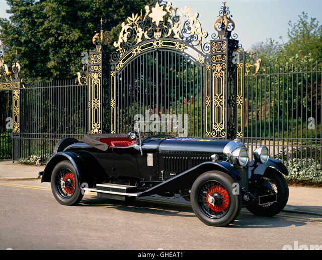 1929 Bentley 4 5 litre drophead coupe with dickey Country of origin United Kingdom - Stock Image