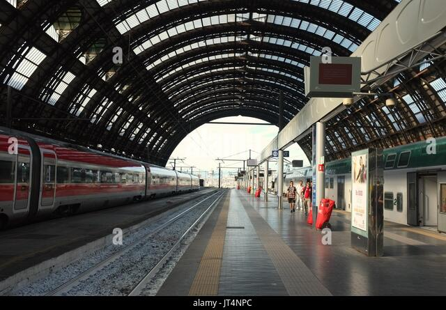 Central railway station, Milan, Lombardy, Italy, July 2017 - Stock Image