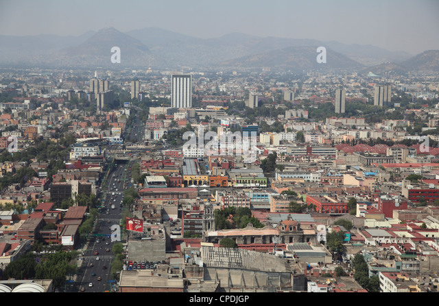 View over Mexico City Center, Mexico City, Mexico, North America - Stock Image