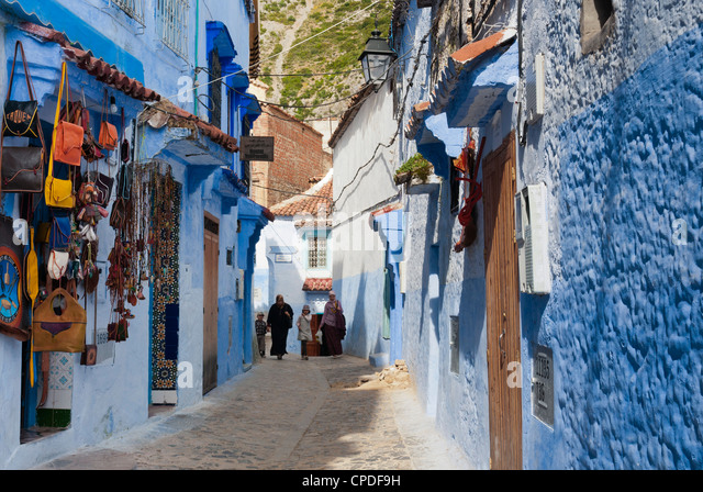 Chefchaouen (Chaouen), Tangeri-Tetouan Region, Rif Mountains, Morocco, North Africa, Africa - Stock-Bilder
