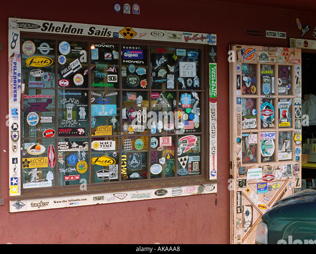 Paia General store in Maui Hawaii - Stock Image
