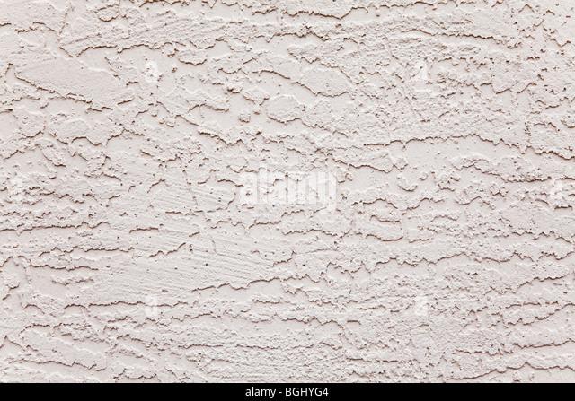 exterior white stucco wall rough background pattern - Stock-Bilder
